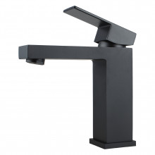 Ottimo Solid Brass Square Black Basin Mixer Tap Vanity Tap Bathroom