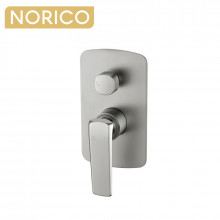 Norico Esperia Brushed Nickel Solid Brass Wall Mounted Mixer with Diverter for shower and bathtub