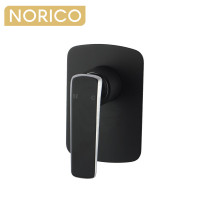 Norico Esperia Chrome and Matt Black Solid Brass Wall Mounted Mixer for shower and bathtub