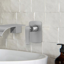 Norico Esperia Brushed Nickel Solid Brass Wall Mounted Mixer for shower and bathtub