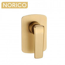 Norico Esperia Brushed Yellow Gold Solid Brass Wall Mounted Mixer for shower and bathtub