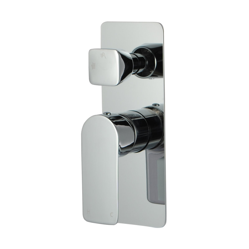 Chrome Bath Mixer with Diverter Wall Mounted FA0165