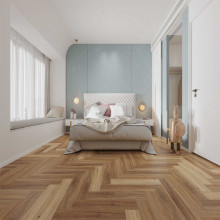 Hybrid Flooring Herringbone Australian Spotted Gum Luxury Surface 9mm Thickness for Indoor Usage 16 pieces per box