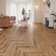 Hybrid Flooring Herringbone Conwy Luxury Surface 9mm Thickness for Indoor Usage 16 pieces per box