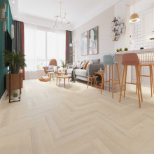 Hybrid Flooring Herringbone Glamis Luxury Surface 9mm Thickness for Indoor Usage 16 pieces per box
