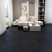 Hybrid Flooring Herringbone The Black Castle Luxury Surface 9mm Thickness for Indoor Usage 16 pieces per box