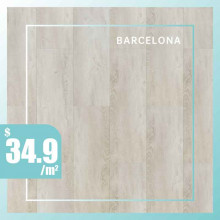 Hybrid Flooring 6mm Thickness Barcelona Surface for Indoor Usage 6 pieces per box