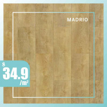 Hybrid Flooring 6mm Thickness Madrio Surface for Indoor Usage 6 pieces per box