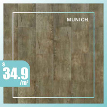 Hybrid Flooring 6mm Thickness Munich Surface for Indoor Usage 6 pieces per box