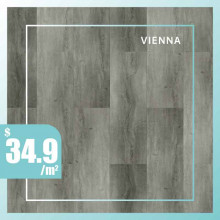 Hybrid Flooring 6mm Thickness Vienna Surface for Indoor Usage 6 pieces per box