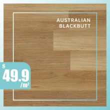 Hybrid Flooring Australian Blackbutt Premium Surface 9mm Thickness for Indoor Usage 5 pieces per box