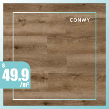 Hybrid Flooring Conwy Premium Surface 9mm Thickness for Indoor Usage 5 pieces per box