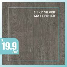 Laminate Flooring Silky Silver Matt Finish Indoor Usage 7 Pieces per box 12mm Thickness
