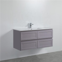 1200mm Wall Hung PVC Vanity Matt Grey Finish Single / Double Bowls Drawers Cabinet ONLY for Bathroom