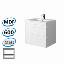 588x450x550mm Hawaii Wall Hung Bathroom Floating Vanity MATT WHITE Shaker Hampton Style Cabinet ONLY&Ceramic/Poly Top Available