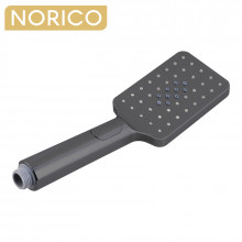 Norico Esperia ABS Square Gunmetal Grey 3 Functions Rainfall Hand Held Shower Head Only