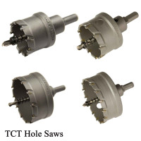 Lauxes Tungsten Carbide Tipped Hole Saws For Aluminium Shower Grate Waste 40/50/72/80mm