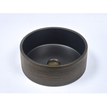 410x410x150mm Round Porcelain Matt Black Basin