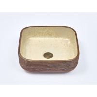 390x390x140mm Square Porcelain Above Counter Basin