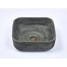 390x390x140mm Square Grey Porcelain Basin