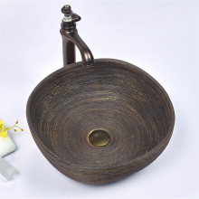 440x440x140mm Square Brown Porcelain Basin