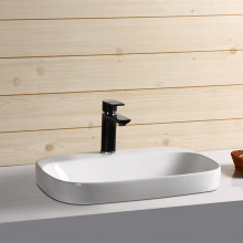 500x420x155mm Rectangle Gloss White Ceramic Inset Drop-in Basin