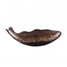 450x350x170mm Above Counter Glass Art Basin Special Fish Shape Bathroom Antique Vintage Wash Basin