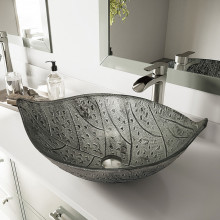 590x370x140mm Above Counter Glass Art Basin Special Shape Bathroom Antique Vintage Wash Basin