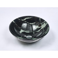 420x420x145mm Tempered Glass Art Basin Round Above Counter