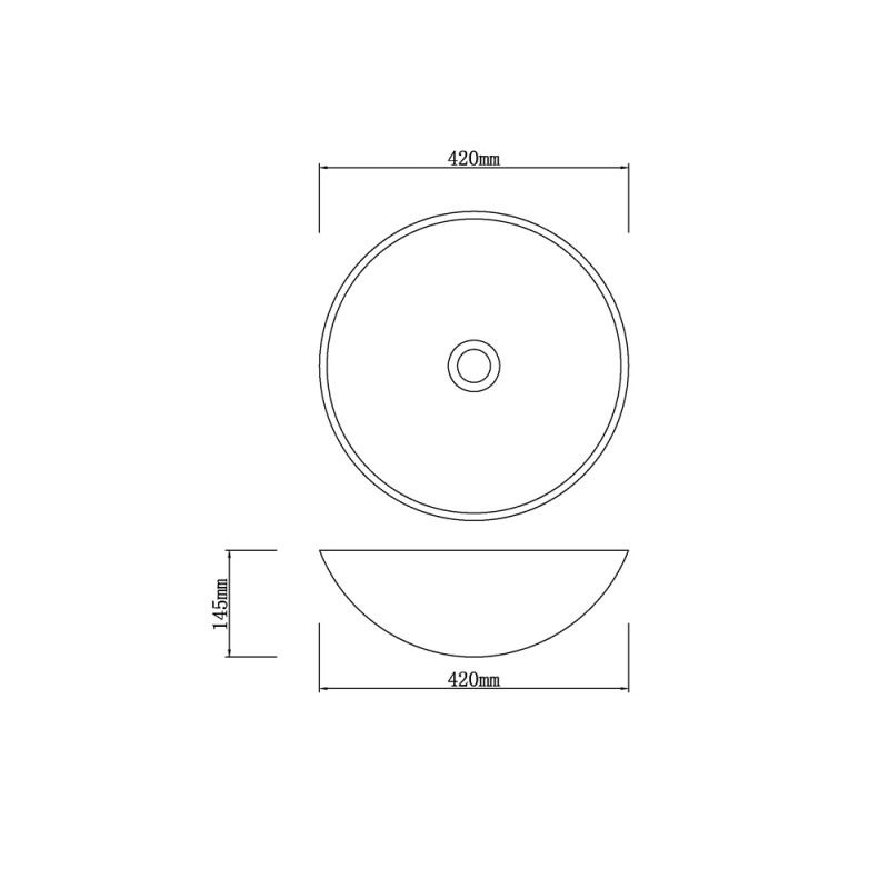 Above Counter Tempered Glass Basin IF-IG015