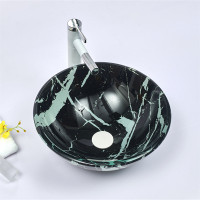 420x420x145mm Double Layer Glass Basin Round Shape in 17mm Thickness