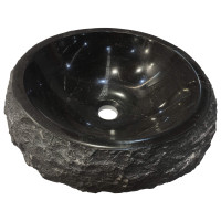 430x430x140mm Above Counter Stone Basin Round Marble Surface Bathroom Wash Basin