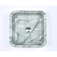 400x400x140mm Square Above Counter Stone Basin