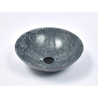 420x420x140mm Round Stone Basin Marble Finish