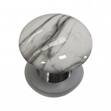 425x425x120mm Square Gloss Marble Carrara Surface Bathroom Above Counter Wash Basin with Tap Hole