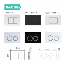 R&T G30032 Inwall Concealed Cistern & Wall Faced Toilet Pan & Push Button