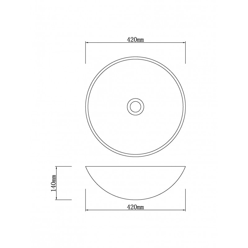 420mm Round Above Counter Stone Basin IF-IS011