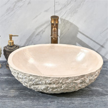 510x360x160mm Above Counter Stone Basin Oval Marble Surface Bathroom Wash Basin