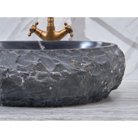 500x400x150mm Above Counter Stone Basin Oval Marble Surface Bathroom Wash Basin Vintage Antique