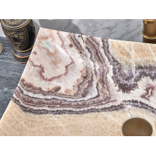 550x380x140mm Above Counter Stone Basin Special Shape Purple Onyx Surface Luxury Bathroom Wash Basin Vintage