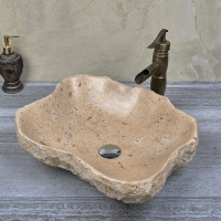 500x380x150mm Above Counter Stone Basin Special Shape Marble Surface Bathroom Wash Basin Vintage Antique