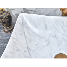 500x400x135mm Above Counter Stone Basin Special Shape Marble Surface Bathroom Wash Basin Vintage