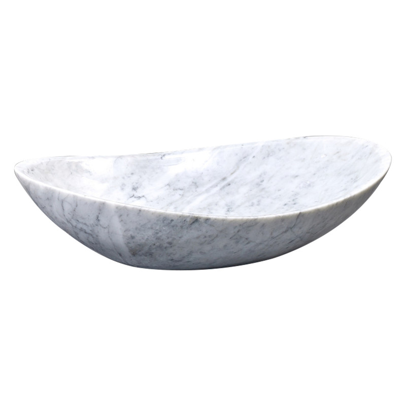 Above Counter Stone Basin Oval Marble Surface Antique