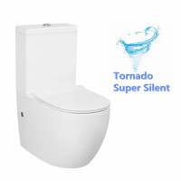 680x360x830mm Voghera-VA Modern Tornado Silent Flush Toilet Suite Back to Wall Slim Soft Close Seat