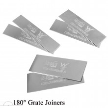 180° Lauxes Silk Silver Pair Shower Grate Joiners 22/26/35mm