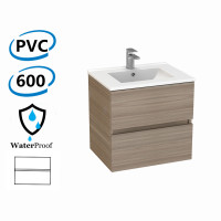600x460x560mm Bathroom Floating Vanity Wall Hung Stella Oak PVC Cabinet ONLY & Ceramic Top/Poly Top Available