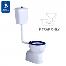 820x350x1180mm Disabled Special Care Toilet Suite White Ceramic Box Rim Bottom inlet P Trap
