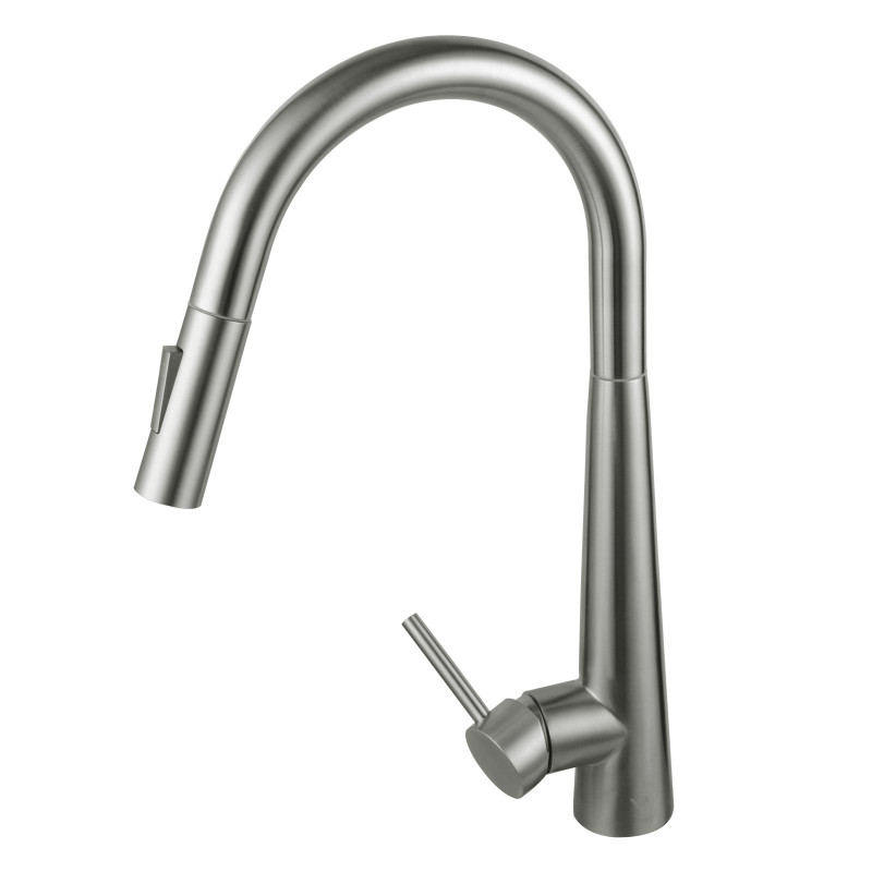 Euro Round Brushed 360° Swivel Pull Out Smart Touch Kitchen Sink Mixer Tap KF1020BU