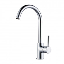 Euro Chrome Solid Brass Classic Round Mixer Tap with 360 Swivel for kitchen