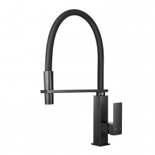 Ottimo Electroplated Black 360° Swivel Kitchen Sink Mixer Tap Solid Brass